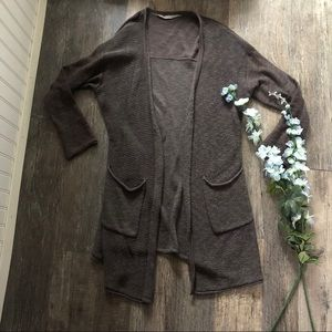 Athleta   Grey Long Cardigan Sweater w/ Pockets